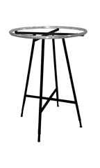 Black Collapsible Round Clothing Rack