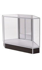 Extra Vision Corner Rear Access Black Display Case Ready To Assemble