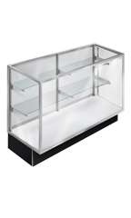 70 inch Extra Vision Black Metal Framed Display Case Ready To Assemble