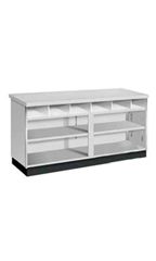 6 foot Gray Metal Framed Service Counter Ready To Assemble
