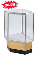 Maple Metal Framed Full Vision Corner Display Case Attachment