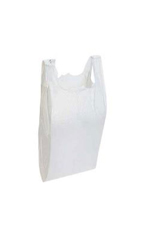 Small White Plastic T-Shirt Bags - Case of 2,000