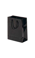 Small Glossy Black Euro Tote Bags - Case of 100