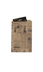 Small Newsprint Paper Merchandise Bags - Case of 1,000