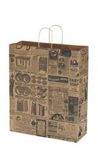 Jumbo Newsprint Paper Shopping Bags - Case of 100