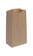 Medium Natural Paper Grocery Bags - Case of 1,000