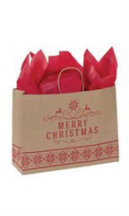 Large Merry Christmas Paper Shopping Bags - Case of 100