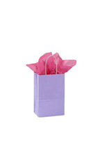 Small Glossy Lavender Paper Shopping Bags - Case of 250