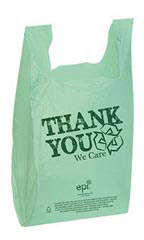 11 ½ x 6 x 21 inch EPI Plastic T-Shirt Bags - Case of 500
