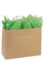 Large Recycled Natural Kraft Paper Shopping Bags - Case of 250