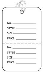 Large Strung White Perforated Coupon Price Tags