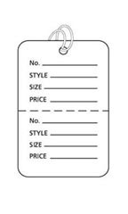 Small Strung White Perforated Coupon Price Tags