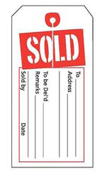 Red/White Sold Slit Tags
