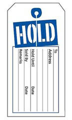 Blue/White Hold Slit Tags
